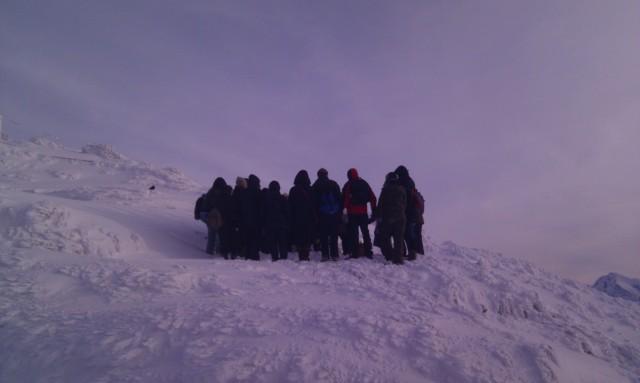 Praying people, on top of the Untersberg