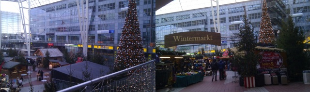 Christmas market in the Munich airport