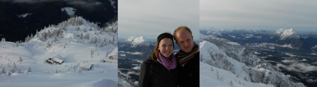 Pictures taken from the top of the Untersberg. In the middle: Sarah and me.