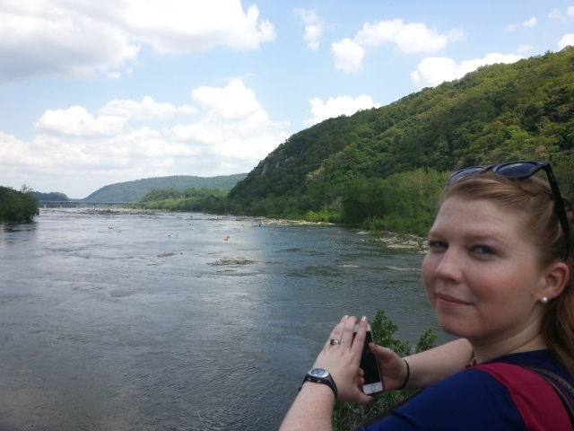 Sarah, at the point where the Potomac and Shenandoah rivers meet