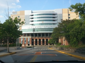 The front of the incredibly massive Neyland Stadium