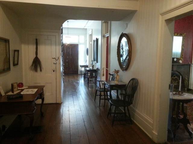 The central hallway in the Mabry-Hazen House