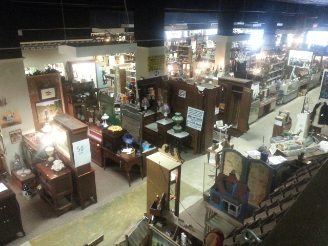 The massive antiques store