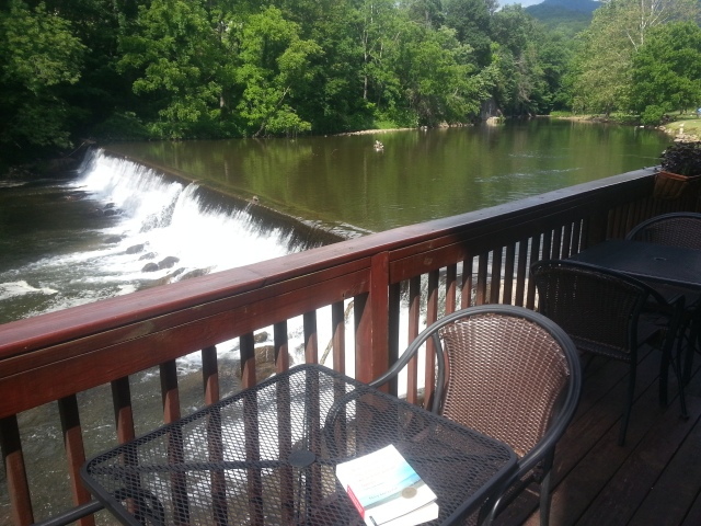 That's where I read my book for an hour or two