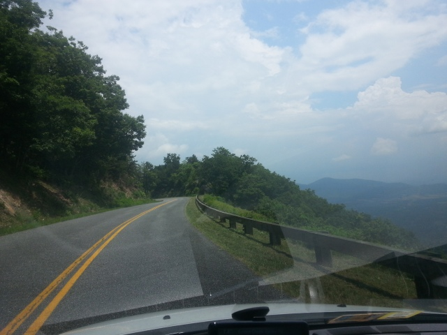 A typically nice piece of the Blue Ridge Parkway