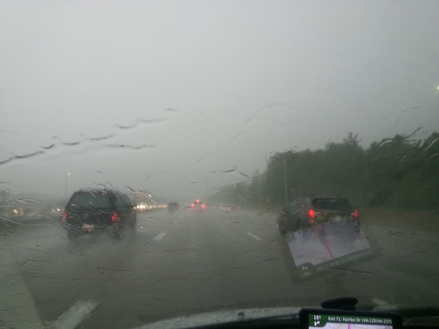 Driving to D.C. in a massive thunder storm