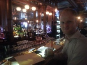 Me at the Whiskey Bar at the Stanley Hotel