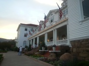 The porch of the Stanley Hotel