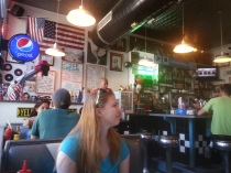 In a traditional diner, in Steamboat Springs