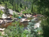 Hot springs seen from above