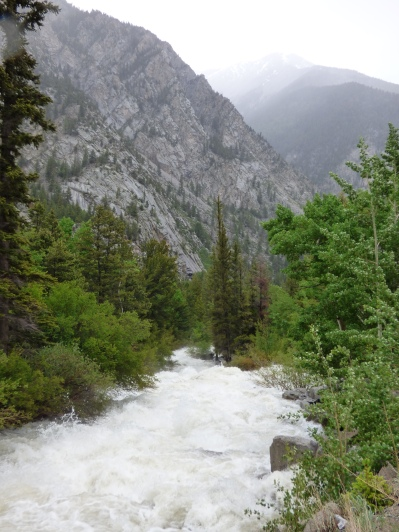 Very wild river on the way up to St. Elmo