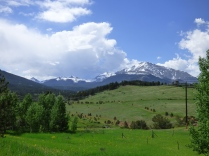 View of the Rocky Mountains close to Nederland