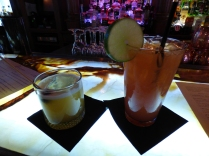 Well deserved drinks at the Whiskey Bar of the Stanley Hotel