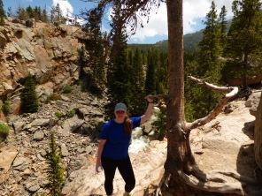 Sarah, halfway up Alberta Falls