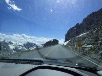 Look at this amazing highway, that let's you drive through snow-capped mountains