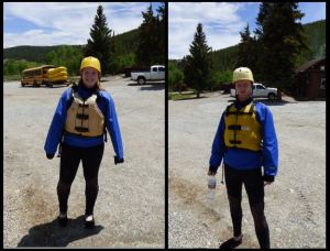 Sarah and I, suited up for an afternoon of rafting on the Arkansas River