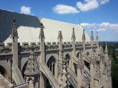 Buttresses, seen from above.