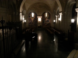 One of the chapels in the basement